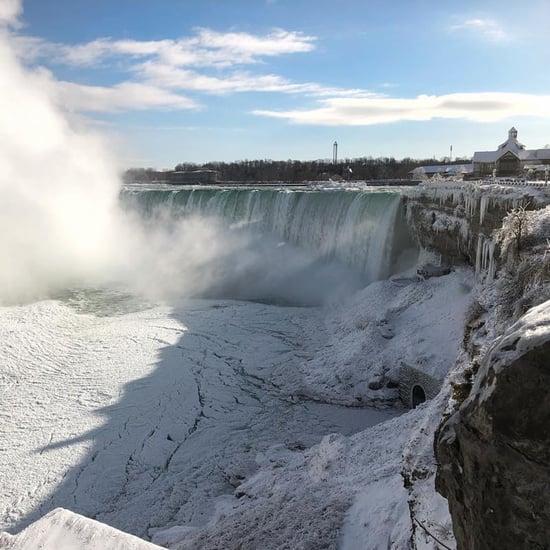 Photos of Niagara Falls Frozen January 2019