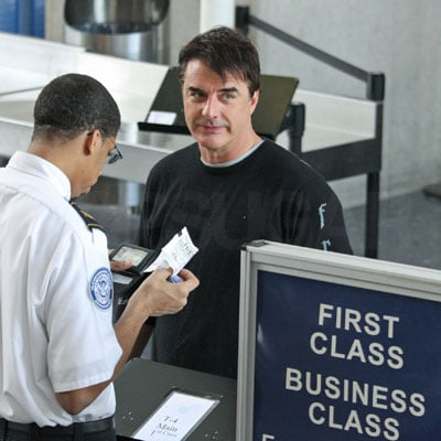 Chris Noth Travels First Class