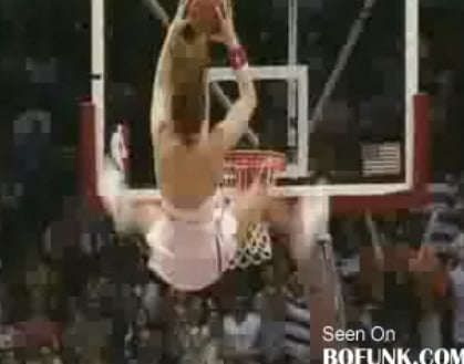 Cheerleader Does 360 Flip Slam Dunk