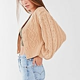 UO Elena Cable Knit Cardigan Sweater