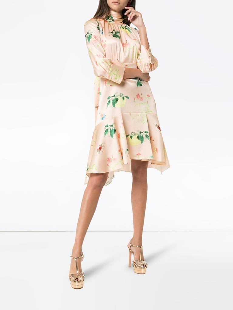 Peter Pilotto Silk Flower Print Mini Dress