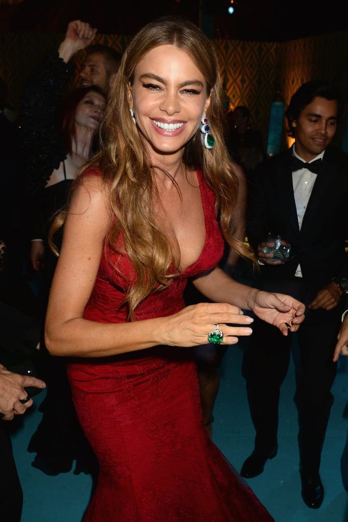 Sofia Vergara flashed her megawatt smile during the HBO party.