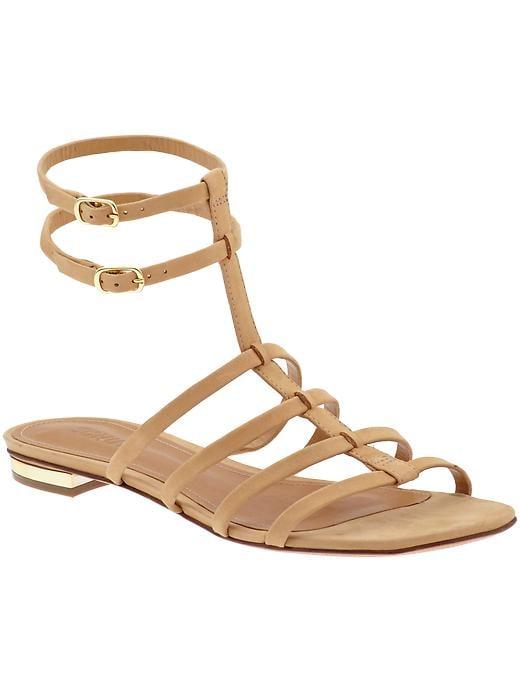 Schutz Charleigh nude gladiator flat sandals ($124, originally $155)