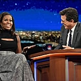 Michelle Obama Appeared on the Show in a Cutout Tank