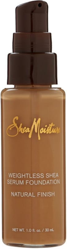 Shea Moisture Weightless Shea Serum Foundation ($15) comes in 20 shades.