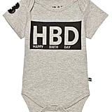 The Brand Grey Melange HBD Onesie ($22)