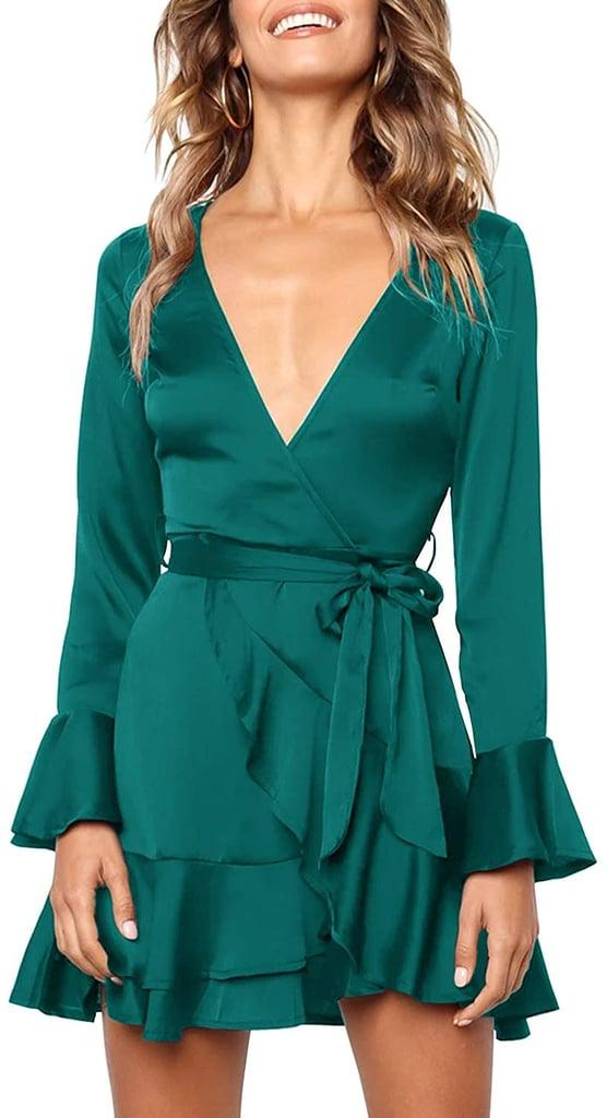 MITILLY Ruffle Wrap Dress