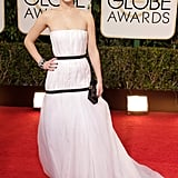 Jennifer Lawrence in Dior Haute Couture at the 2014 Golden Globes