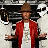 Pharrell Williams' hat outshined Daft Punk's outfits at the Grammys.