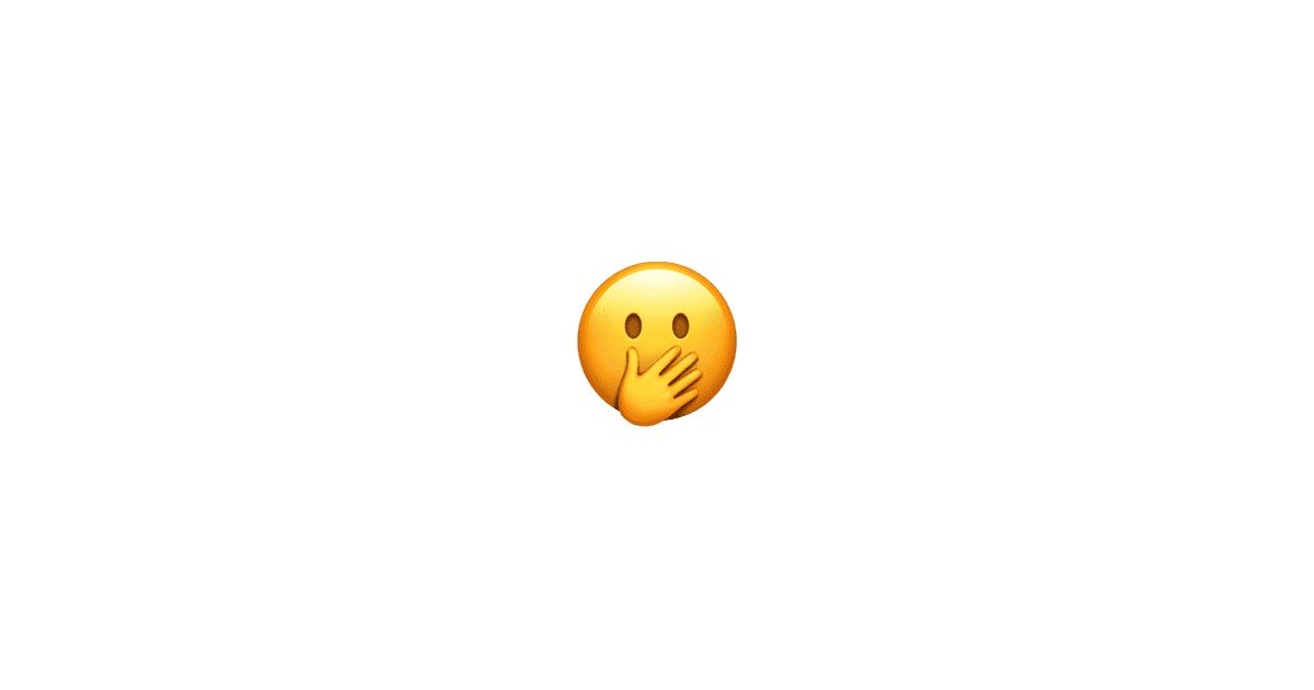 face with hand over mouth complete list of all 190 new apple emoji ios 11 1 fall 2017. Black Bedroom Furniture Sets. Home Design Ideas