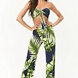 Forever 21 Palm Leaf Print Bandeau & Pant Set