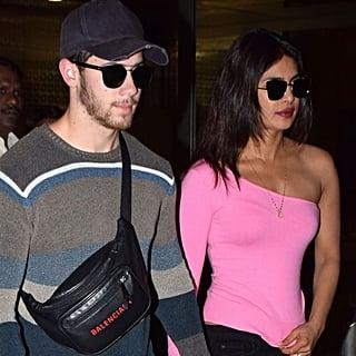 Priyanka Chopra in Pink One-Shoulder Shirt