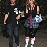 Judd Apatow and Leslie Mann as a Baseball Player and Roller Derby Skater