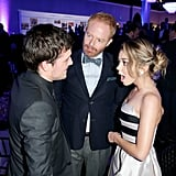 Josh Hutcherson had an animated chat with Modern Family stars Jesse Tyler Ferguson and Sarah Hyland during unite4:humanity's event at the Beverly Hilton hotel.