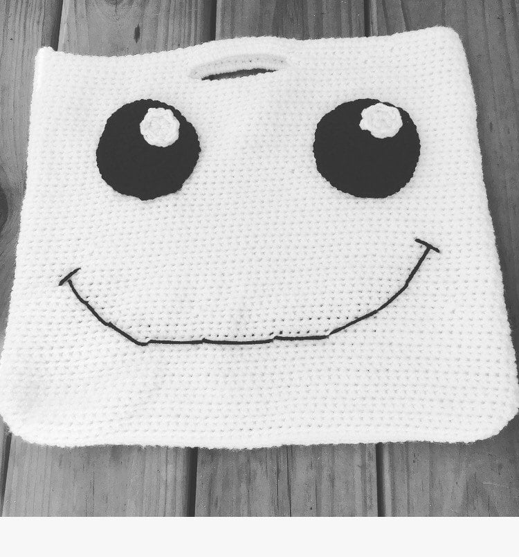 Knitted Ghost Bag