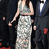 Kristen Stewart wore a sexy printed gown to the On the Road premiere in Cannes.