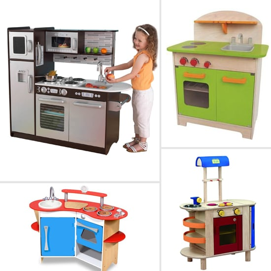 Wooden Play Kitchen wooden play kitchens | popsugar moms