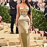 She hit the red carpet dripping in gold at the 2018 Met Gala.