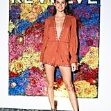 Sara Sampaio slipped into the alé by Alessandra x Revolve Belihna Romper for the Revolve dinner. She accessorized with Ash sandals.