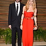 Sienna Miller and Tom Sturridge attended the Vanity Fair Oscars party.