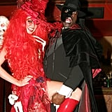 In 2004, they were together for her fifth annual Halloween party in NYC.