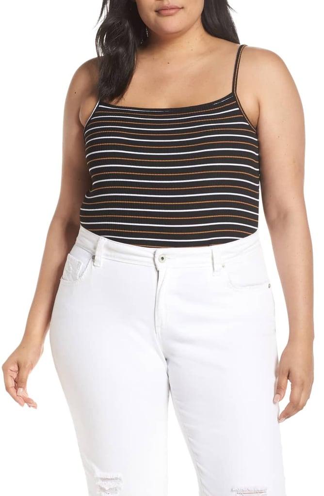 BP. Square Neck Stripe Bodysuit