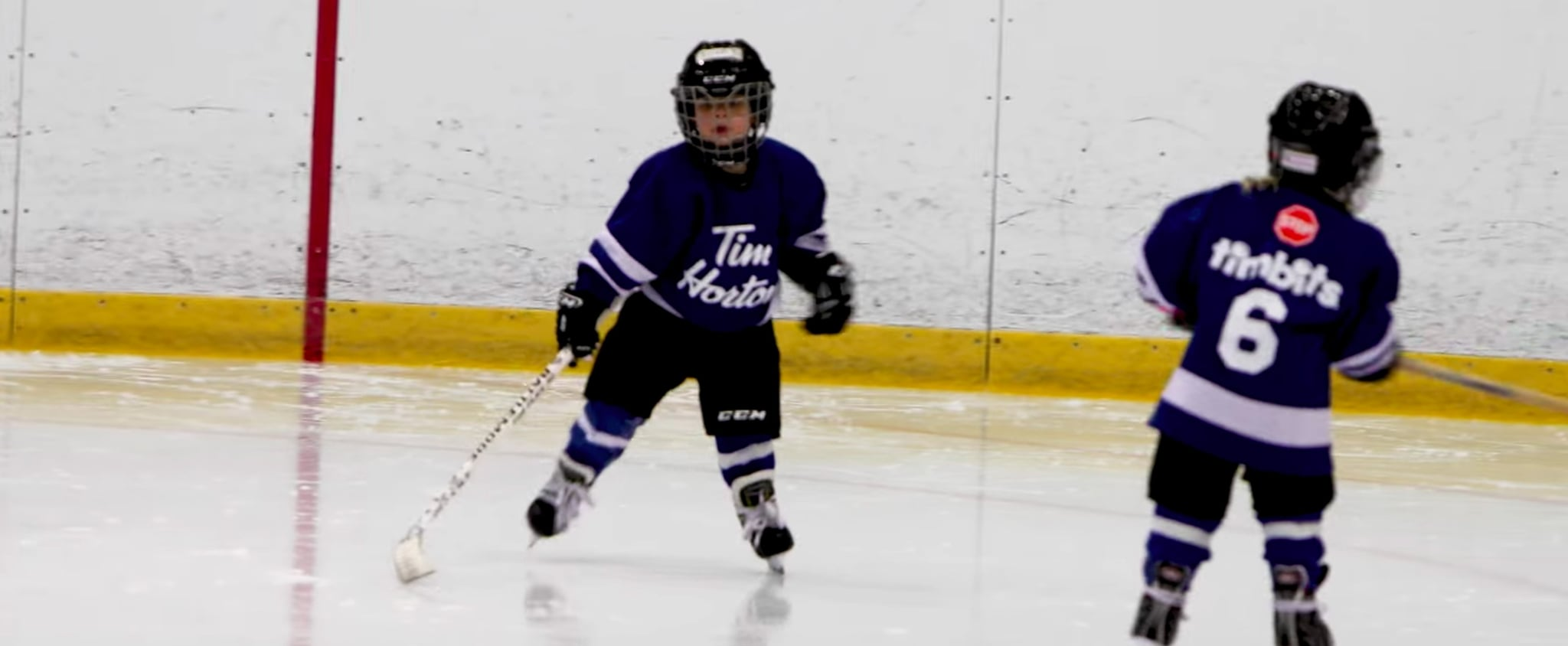 Dad Puts Microphone on Son at Hockey Practice Video