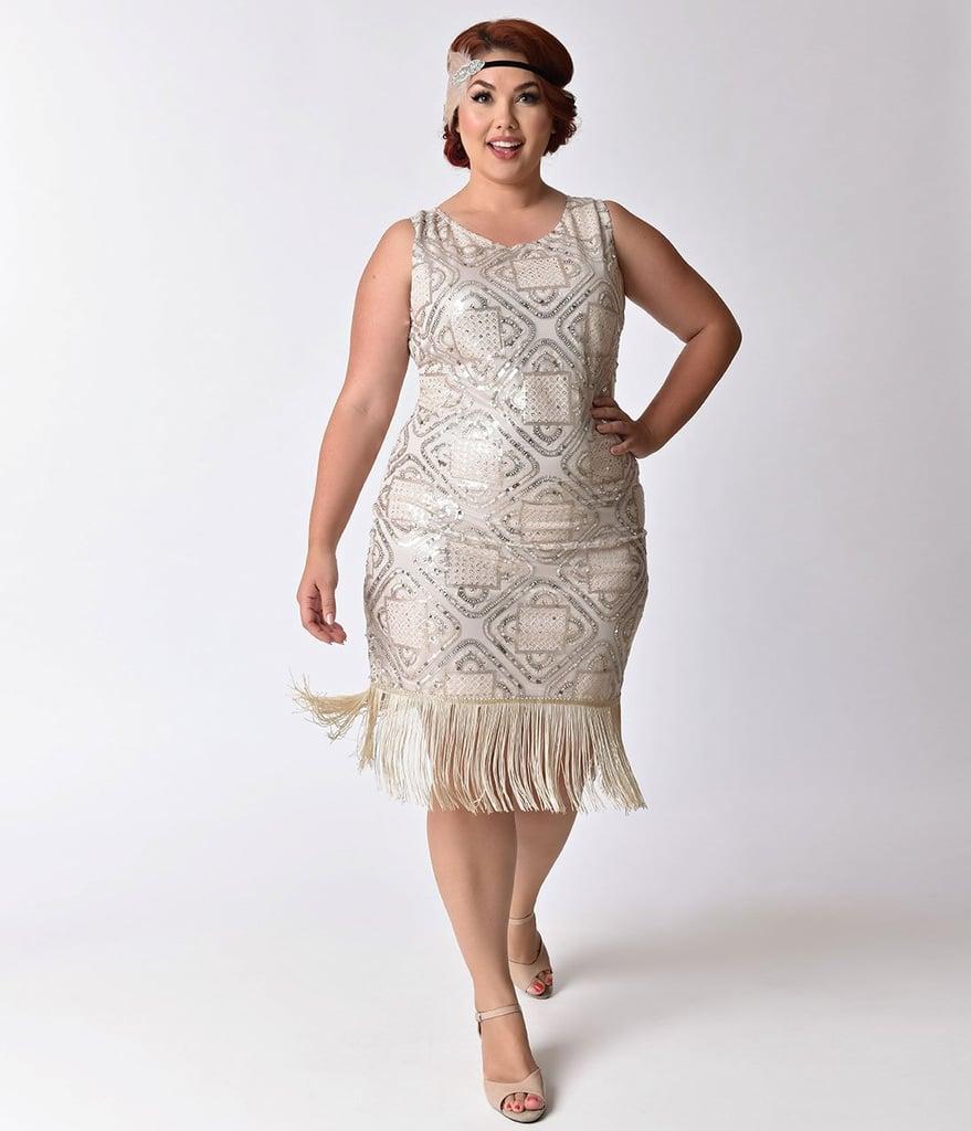 chrissy teigens silver fringe dress popsugar fashion