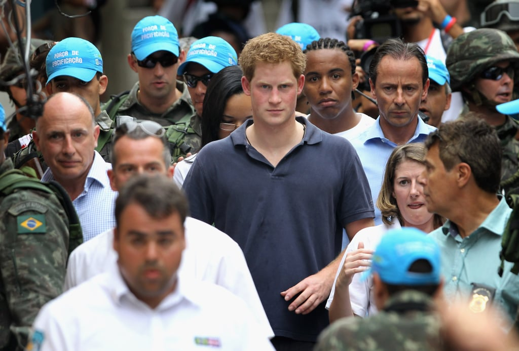 Prince Harry visited the Favela in Rio.