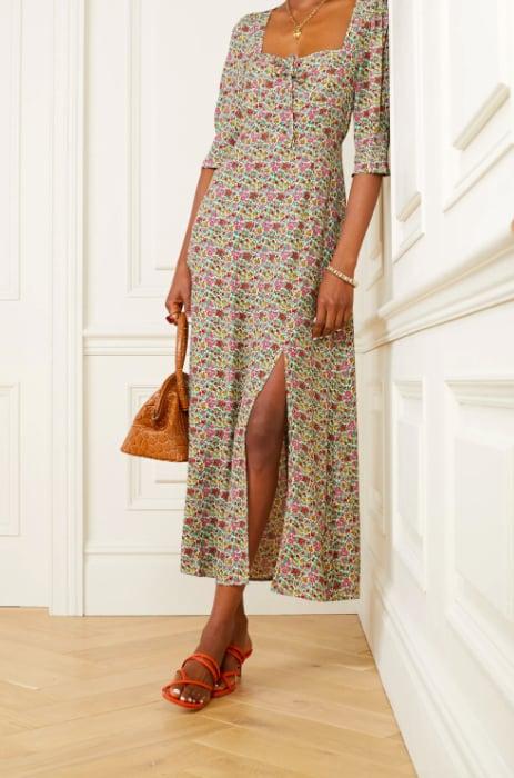 RIXO Naomi Floral-Print Georgette Midi Dress ($418.81)