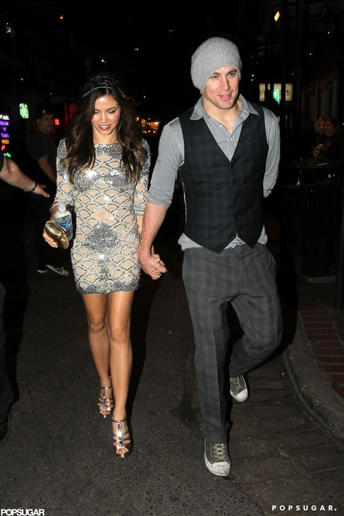 Channing Tatum and Jenna Dewan celebrated at Saints and Sinners in New Orleans.