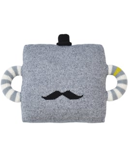 Bla Bla Hold Me Tight Mustache Pillow