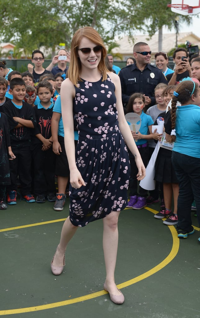 Emma Stone at a Miami Event For The Amazing Spider-Man 2