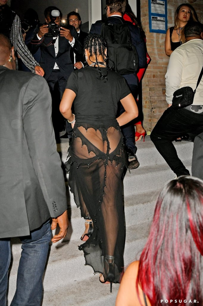 Rihanna Wears Sheer Skirt For Her Met Gala Afterparty