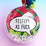 Cheeky Rude Festive Holiday Christmas Tree Bauble