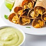 Cheesy Chicken Taquitos With Avocado Salsa