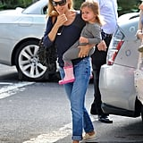 Sarah Jessica Parker held onto Tabitha out and about in NYC.