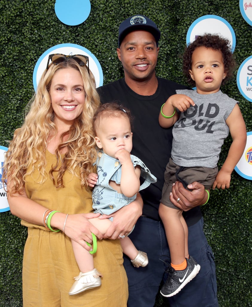 "Donald Faison and his wife, CaCee Cobb, brought their son Rocco and daughter Wilder to the Safe Kids Day event in LA on Sunday. The family of four posed on the grassy red carpet together before heading inside, where the real fun began; Donald and Rocco let loose in a giant ball pit, and the former Scrubs star got a little more than he bargained for while trying to go down a plastic slide. Donald met up with Mark-Paul Gosselaar during the event, which also brought out Drew Barrymore, Tamera Mowry, and Kelly Rowland and her look-alike son, Titan.  CaCee and Donald's family day comes just a couple of weeks after they escaped to Mexico to celebrate Zach Braff's 41st birthday in Mexico. Donald palled around with his BFF and former costar in the pool, and CaCee showed off her postbaby body in a bikini while lounging with friends. They also recently rang in Wilder's first birthday, which Donald commemorated on Instagram with an adorable snap of his little girl eating cake captioned, ""Year one complete."" Keep reading to see Donald, CaCee, and their cute kids out in LA."