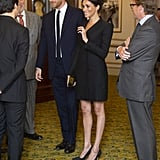 Meghan Markle Wearing Her Black Tuxedo Minidress