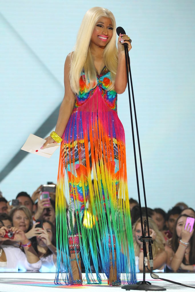 Nicki Minaj wore a colorful ensemble for the Aria Awards in Sydney.