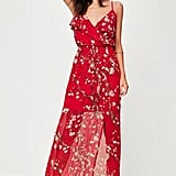Missguided Tall Red Floral Printed Maxi Dress