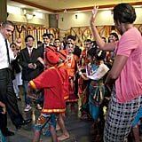 Michelle and Barack in India