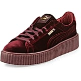 Mix two major trends (velvet and a creeper heel) with these Fenty Puma by Rihanna Velvet Creeper Sneakers ($150).