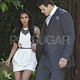 Kim Kardashian and Kris Humphries dressed up for an appearance on Jay Leno.