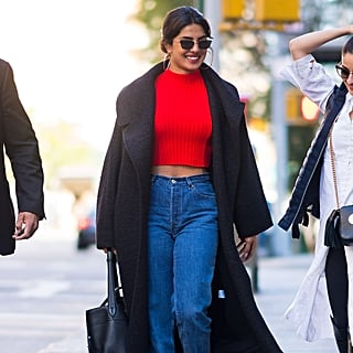 Priyanka Chopra's Red Crop Top and Jeans