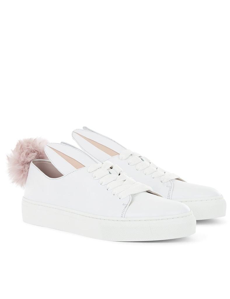Minna Parikka White Low-Top Bunny Sneakers ($325)