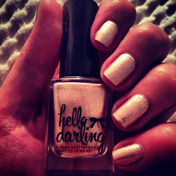 BellaSugar is a big fan of Hello Darling polishes, and this particular colour is Mrs. Reynolds. Wonder if Blake Lively's got some.