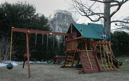 Sugar Shout Out: Sasha and Malia Get Swing Set