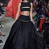 Bella Hadid on the Brandon Maxwell Fall 2020 Runway at New York Fashion Week