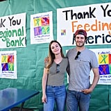 In June 2017, the couple volunteered at Feeding America's Summer Hunger Awareness event in LA.